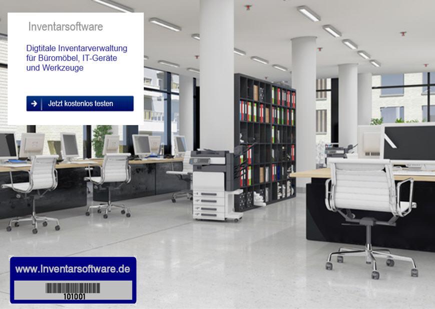 Inventarmanager erfasst und inventarisiert Möbel und Hardware